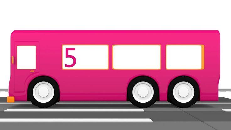 Cartoni animati per bambini: Macchinine colorate e l'autobus numero cinque