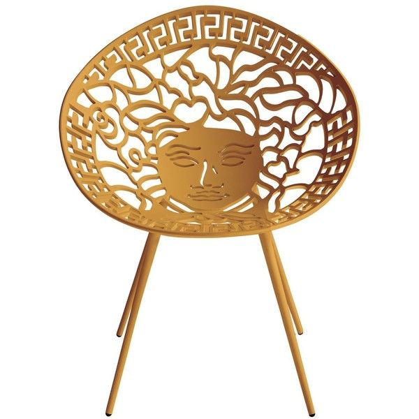 Versace Home Medusa Chair ($5,635) ❤ Liked On Polyvore Featuring Home,  Outdoors,