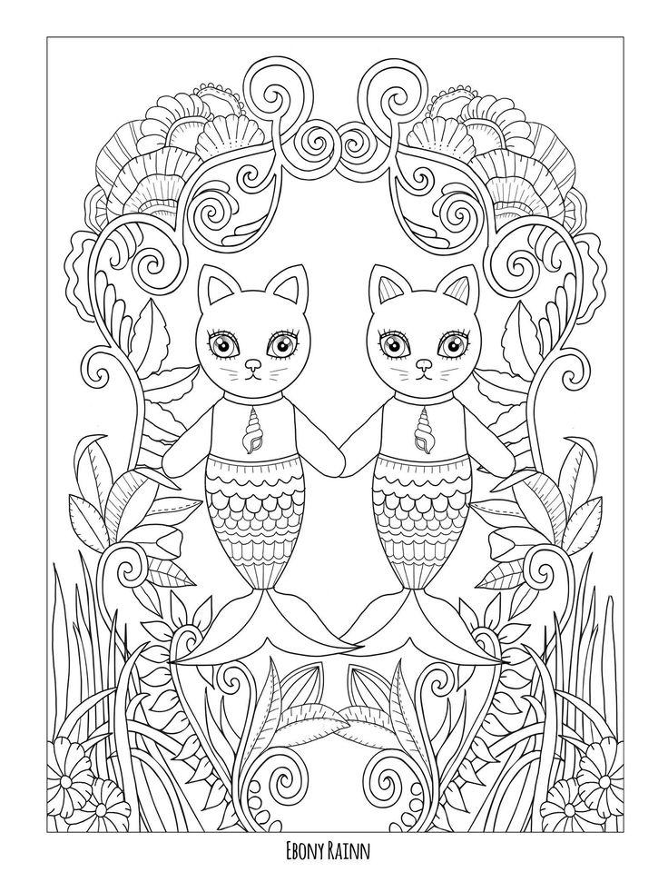 307 besten coloring-mermaids Bilder auf Pinterest   Malbücher ...