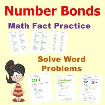 Practice number bonds, apply part-part-whole relationship of numbers in problem solving and improve mental calculation. A no prep resource for teachers, homeschooling families, and parents looking to help young students lay strong math fact foundation, improve mental arithmetic calculation, learn to solve addition and subtraction story word problems.