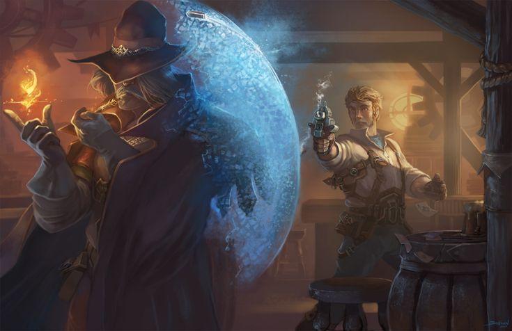 Magician and Gunslinger by Brolken.deviantart.com on @DeviantArt