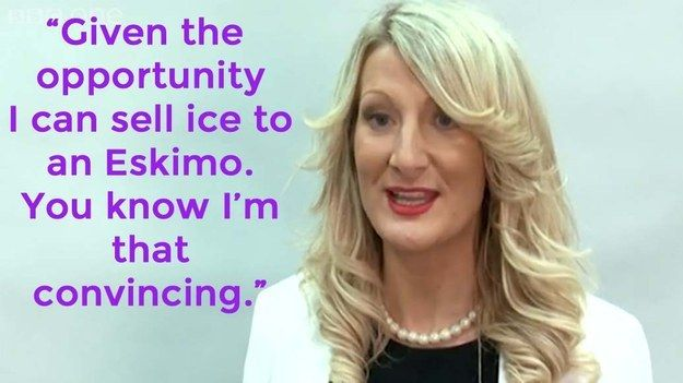 """Sarah Dales can sell ice to an Eskimo. 