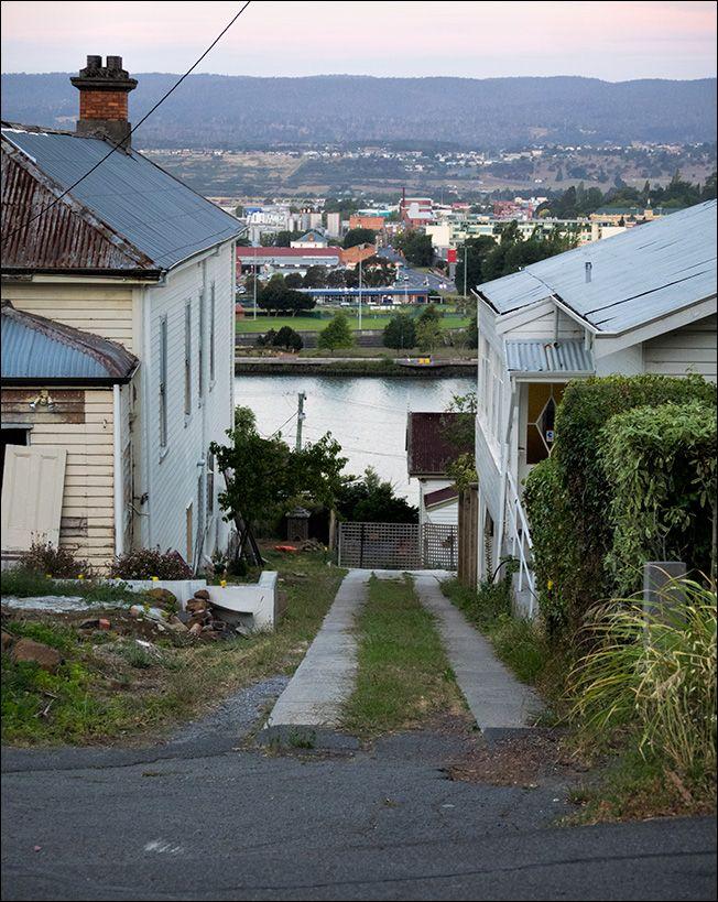 A driveway with a view, Trevallyn, Launceston Tasmania.