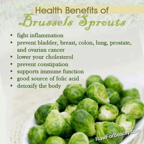 Health Benefits of Brussels Sprouts..I'm On a huge Brussels sprouts kick!! Can't get enough