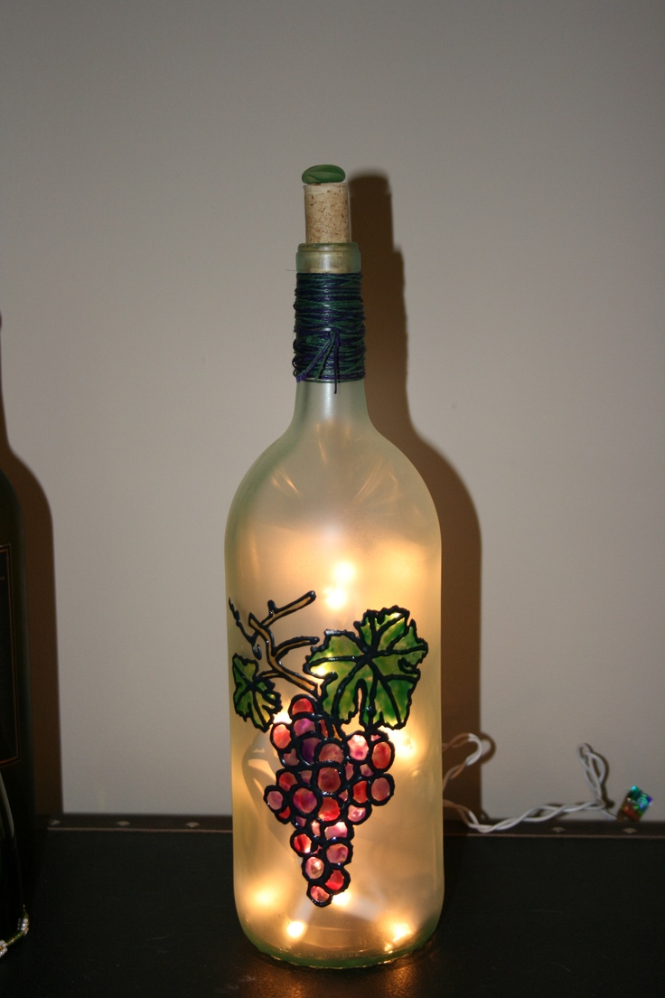 Stained Glass Wine Bottle Decorations 76 Best