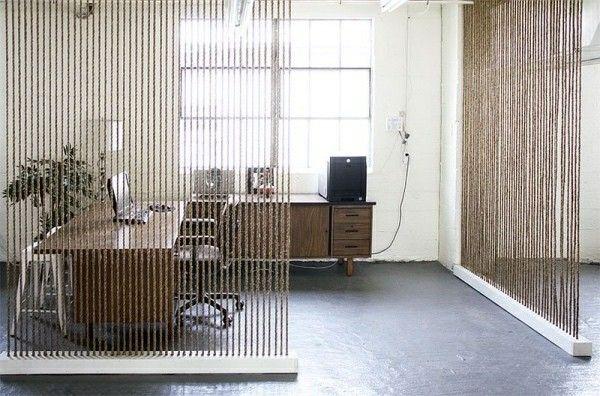 Raumteiler Raum Trennen Mitn Wenig Licht #Design #dekor #dekoration #design  #Heimtextilien