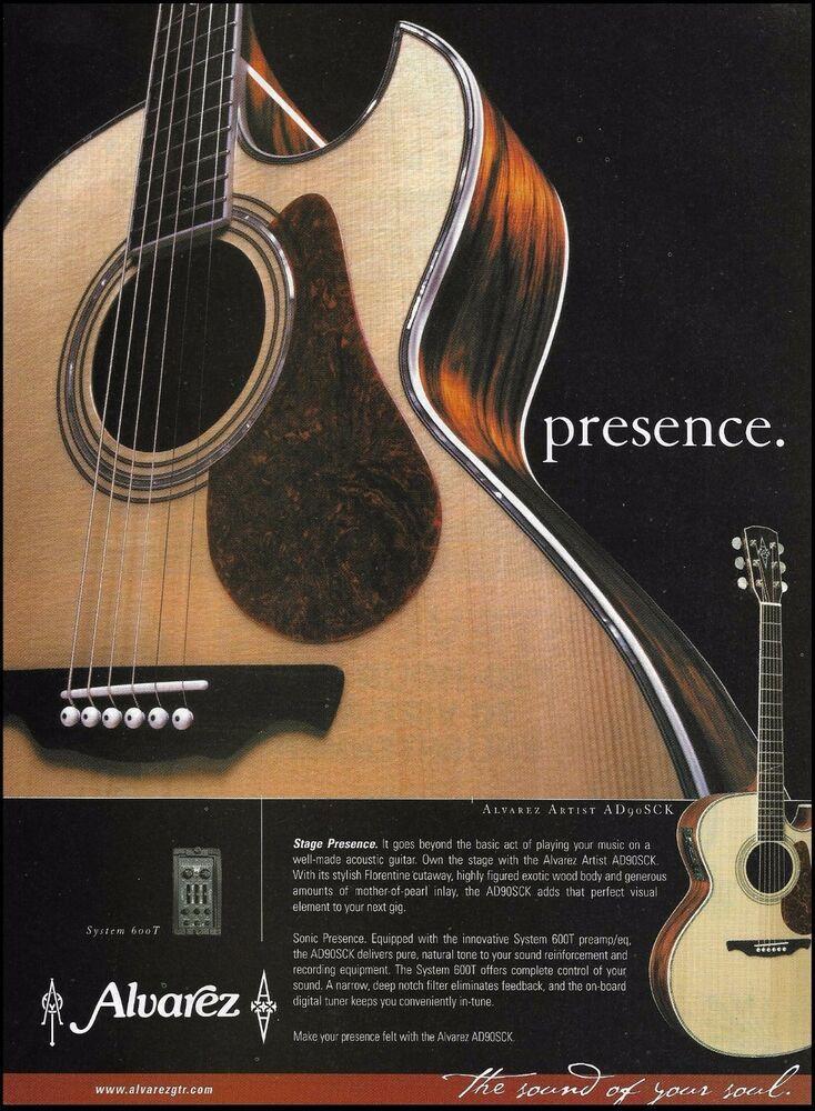 Alvarez Yairi Artist Ad90sck Acoustic Guitar 2000 Ad 8 X 11 Advertisement Print Alvarez In 2020 Guitar Acoustic Guitar Acoustic