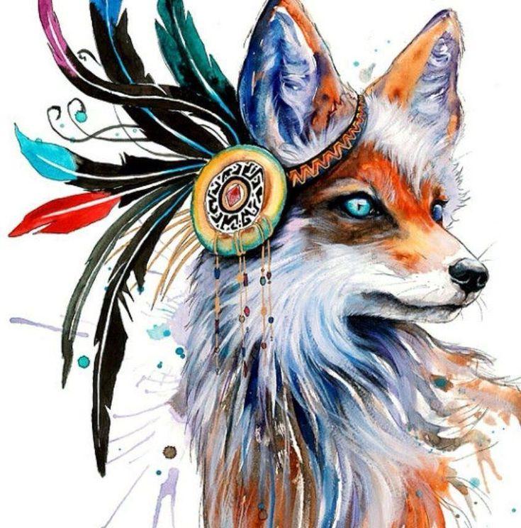 Colorful Fox Square Diamond Painting