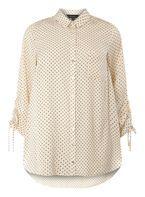 Womens DP Curve Plus Size Ivory Draw Cord Shirt- White