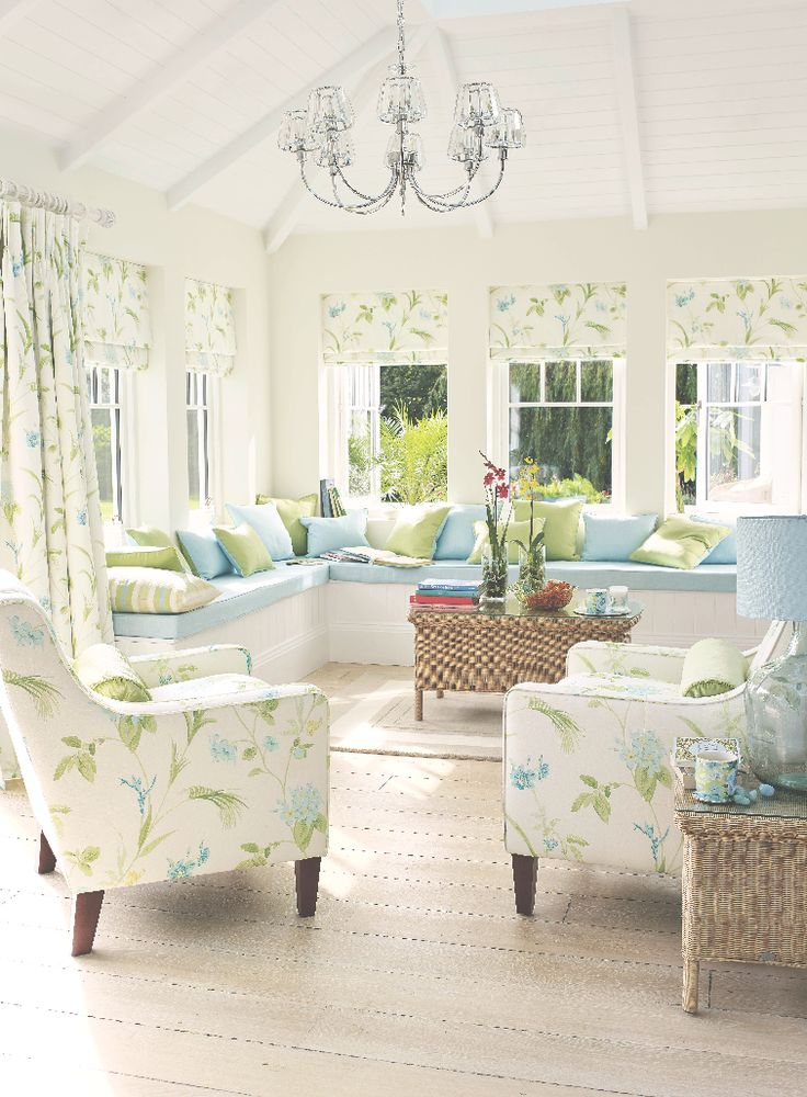 To much white but love the color scheme. Laura Ashley Spring/Summer 2015: Palm House