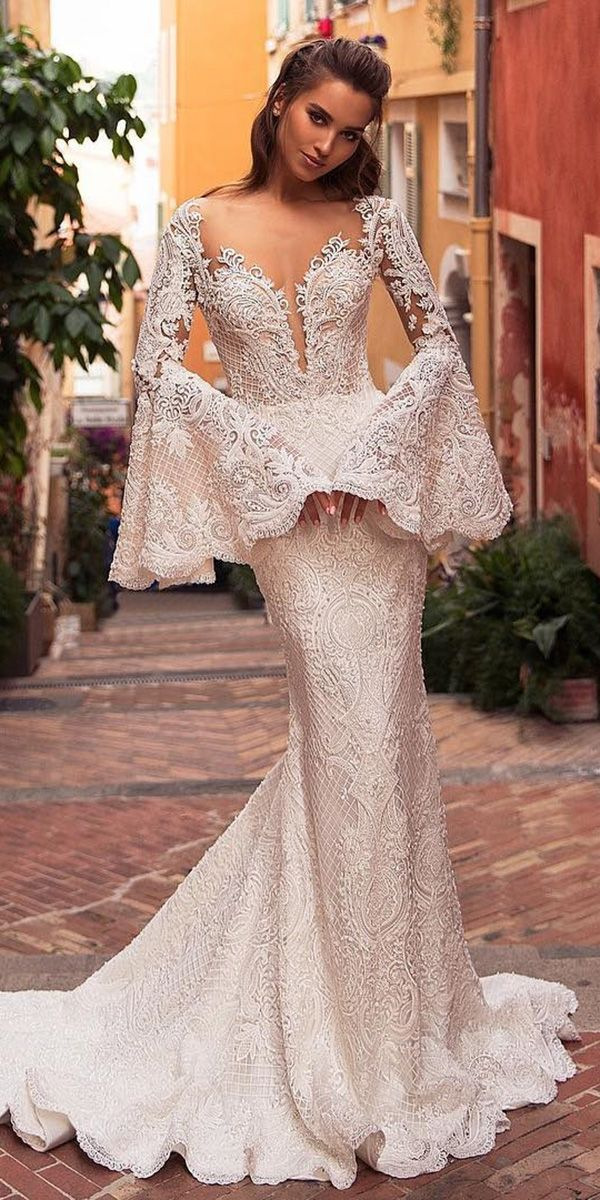 Best 24 Styles Of Wedding Dresses With Lace Sleeves ❤ wedding dresses with lac…