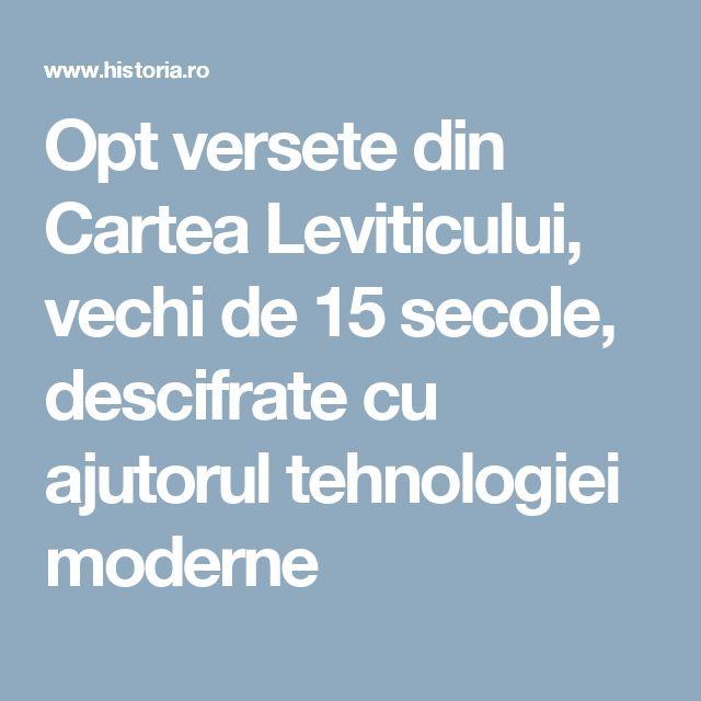 Opt versete din Cartea Leviticului, vechi de 15 secole, descifrate cu ajutorul tehnologiei moderne