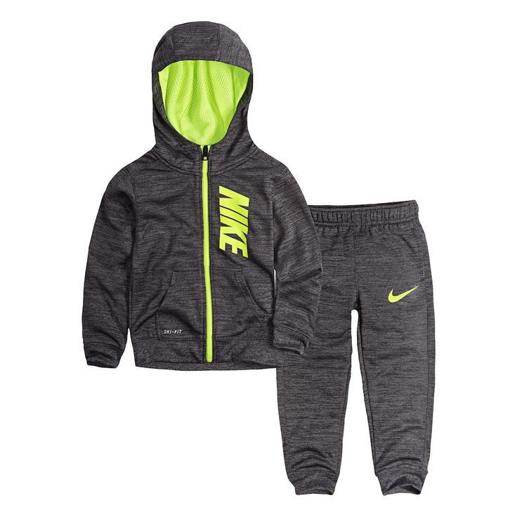 Toddler Boy Nike Therma-FIT Zip Hoodie & Pants Set, Size: 3T, Grey Other