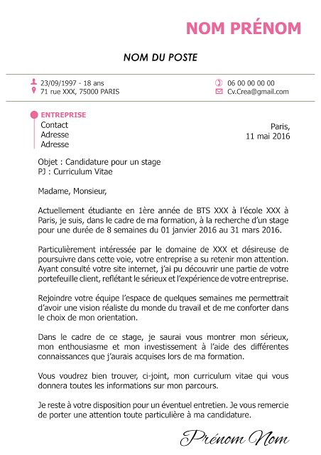 une lettre de motivation totalement personnalisable   lettre  motivation  lm  creation  indesign