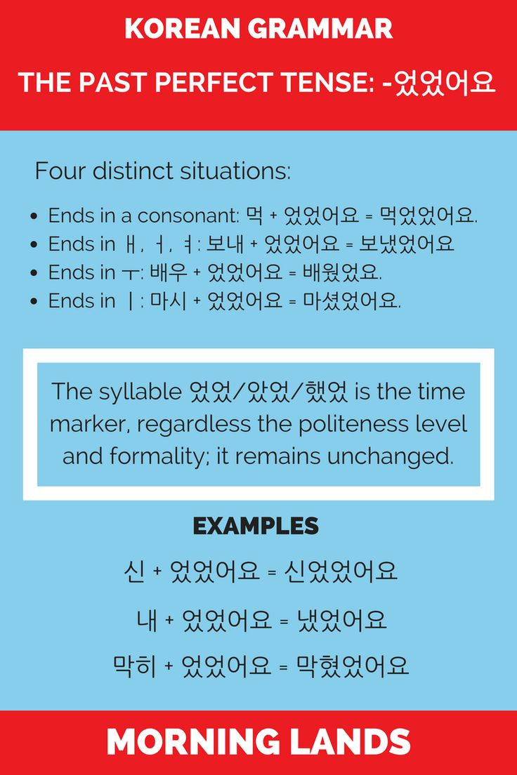 The Korean past perfect tense is the least used Korean tense because of its limited use for which you could very well use the Korean past tense. #LearnKorean #Korean #한국어