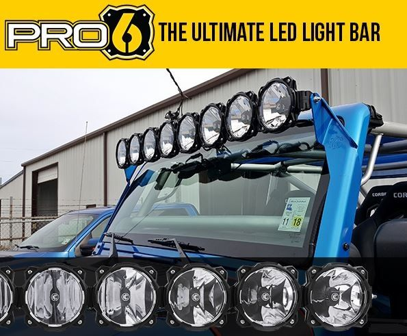 KC HiLiTES - The Gravity® LED Pro 6 LED light bar is an LED off-road lighting system utilizing patent-pending Infinity Ring system featuring radius to straight adjust-ability, modular beam patterns and expandable widths.