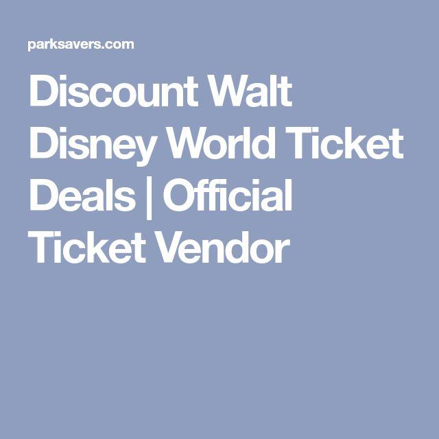 Discount Walt Disney World Ticket Deals | Official Ticket Vendor