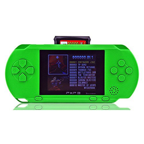 Handheld Game ConsoleYANX Classic 16bit Portable Video Game Console PXP Game Player With Two Cartidiges Built in 100 Games Christmas Halloween XMAS Birthday Gifts for Boy Kids ChildrenGreen -- Read more  at the image link.