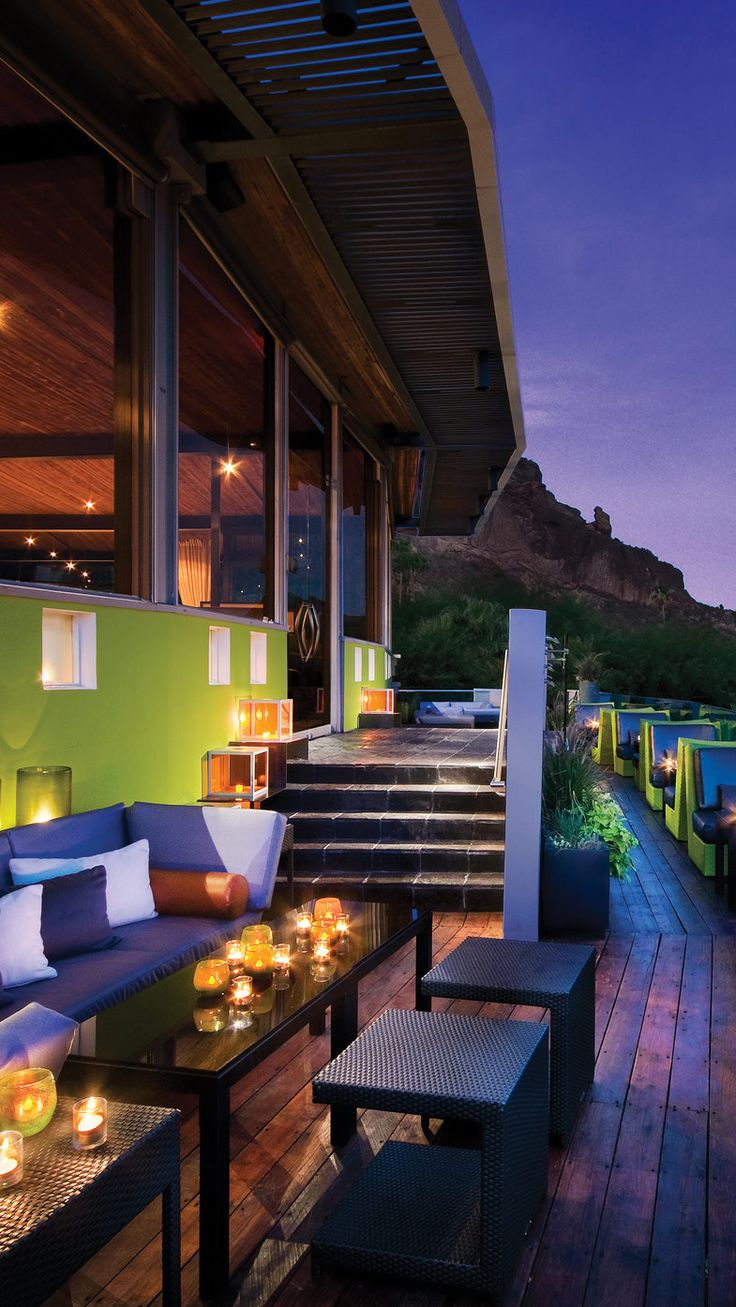 Sunsets here are a true event — especially with one of Edge Bar's killer cocktails. #Arizona