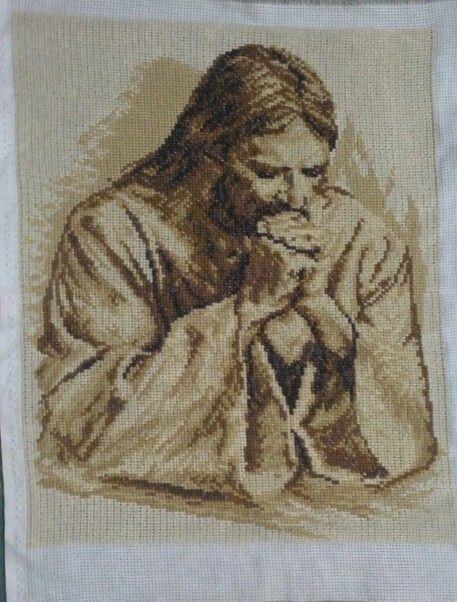Cross stitch haft krzyżykowy modlitwa