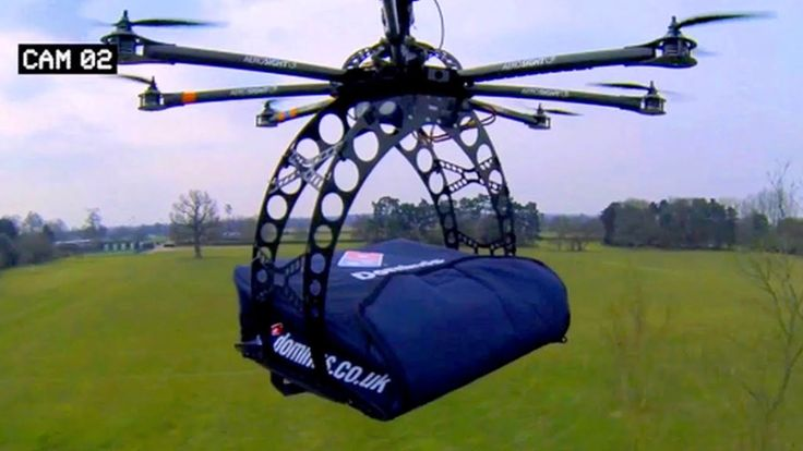 Domino's Flying Drone Delivers Pizza