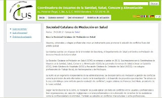 Nace la Sociedad Catalana de Mediación en Salud (Centro de Mediación de conflictos 07/06/2012)
