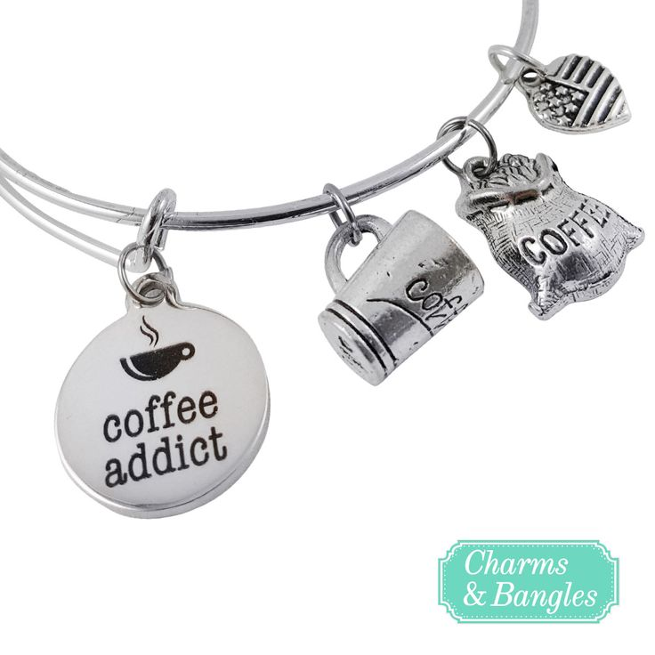 Certified Coffee Addict? Click to Get Your Limited Edition Bangle Bracelet! => http://www.charmsandbangles.com/products/coffee-addict-charm-bangle-bracelet?utm_source=pinterest&utm_medium=promoted_pin&utm_content=women_all_keywords&utm_campaign=coffee_addict