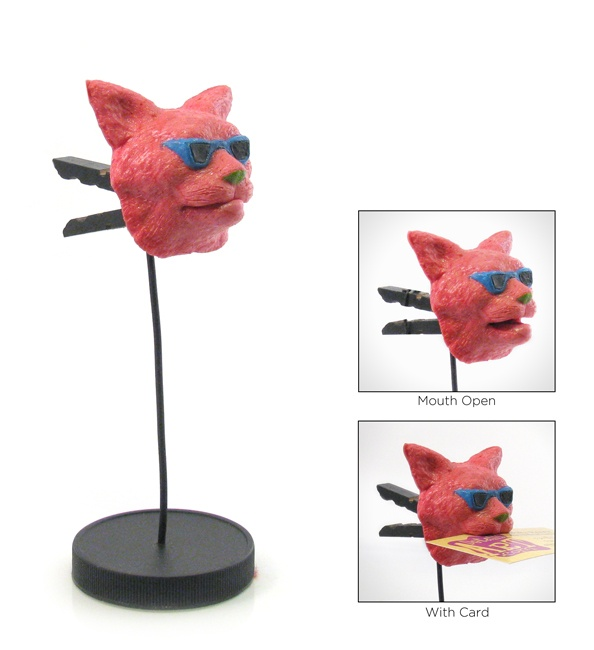 Retro Cat Note Holder. Hand made by Max.