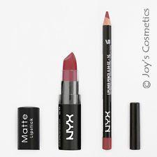 2 NYX Matte Lipstick 15 Whipped Caviar + Slim Lip pencil 831 Mauve Set *Joy's*