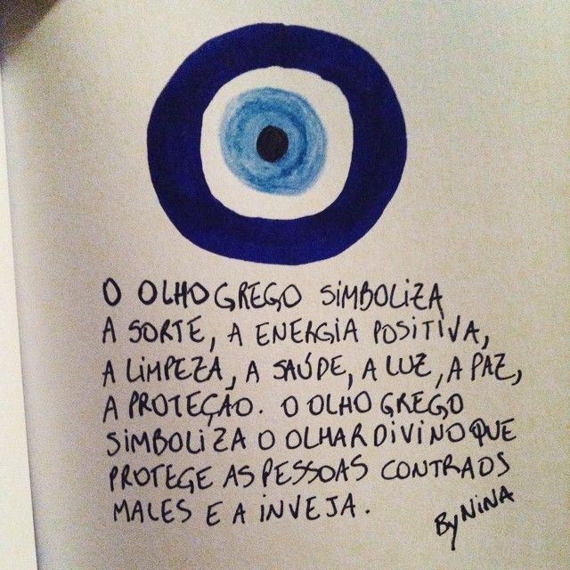"""@instabynina's photo: """"Proteção para nós todos!!!  #olhogrego #proteção #símbolos #bynina #instabynina"""""""