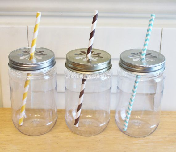 Love love love these! Hey, I found this really awesome Etsy listing at https://www.etsy.com/listing/122014074/plastic-mason-jars-w-colored-daisy-lids