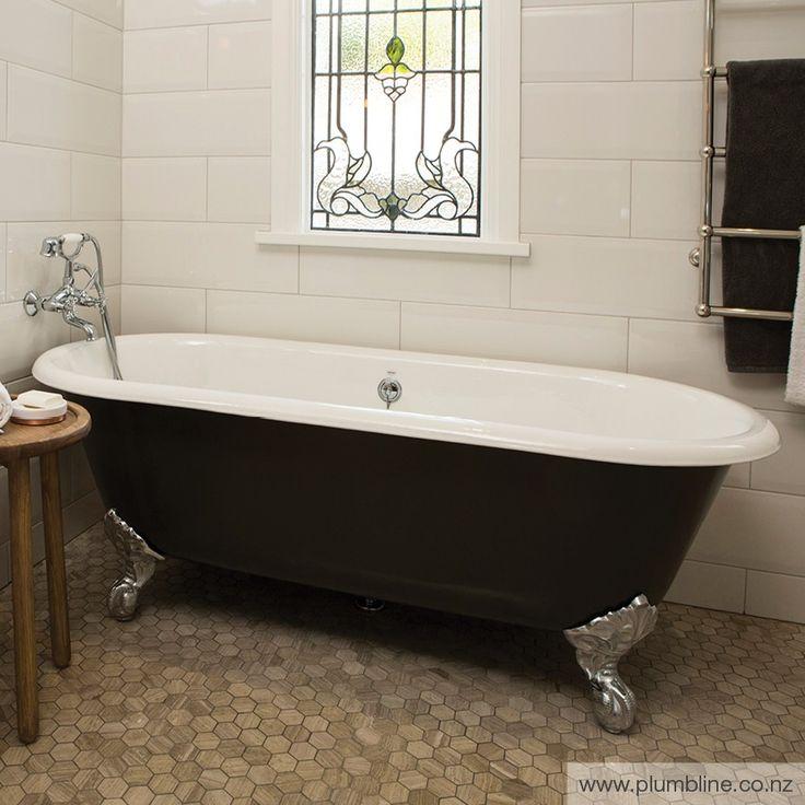 Dual 1700 Bath Painted With Chrome Claw Feet