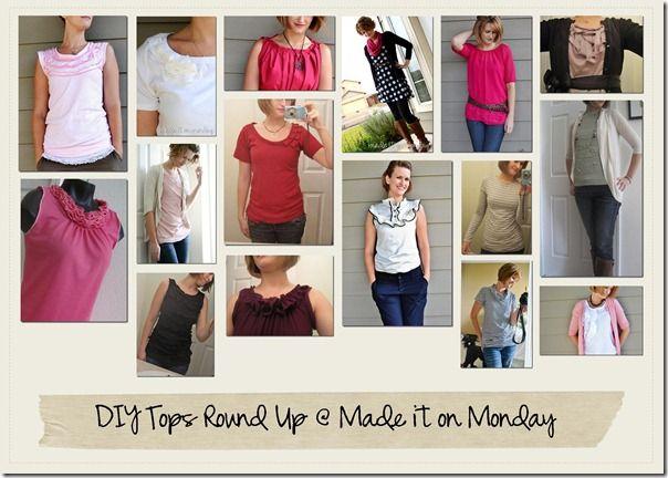 Tutorials für Oberteile - whoa...lots of DIY shirts!