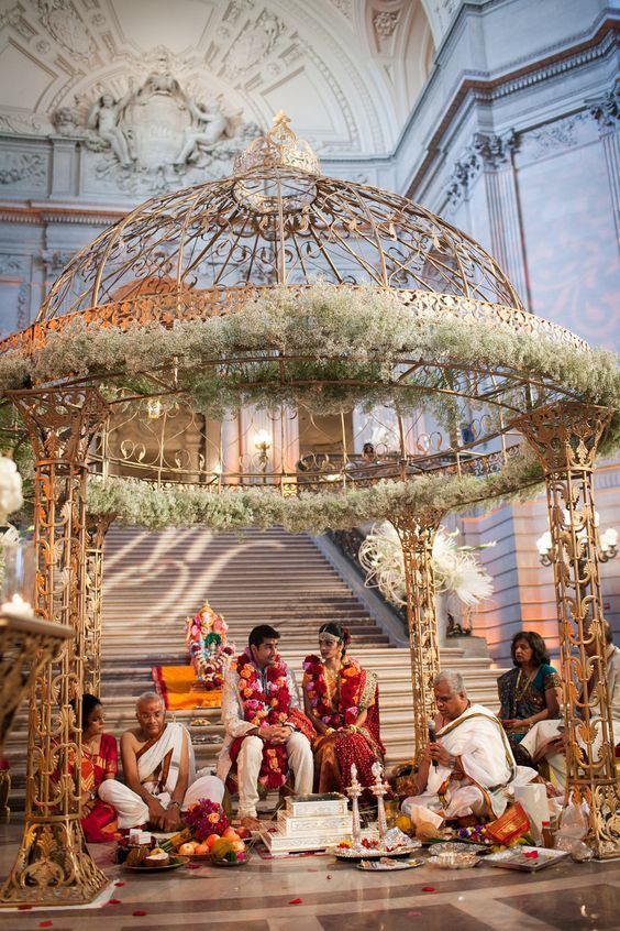 city hall SF wedding mandap indian - Google Search