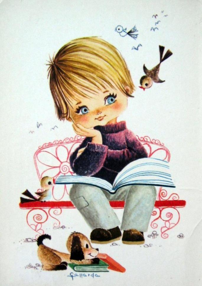 Мальчик с девочкой открытки
