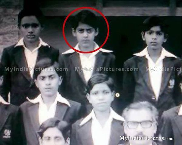 Salman Khan in School Days Childhood Photo