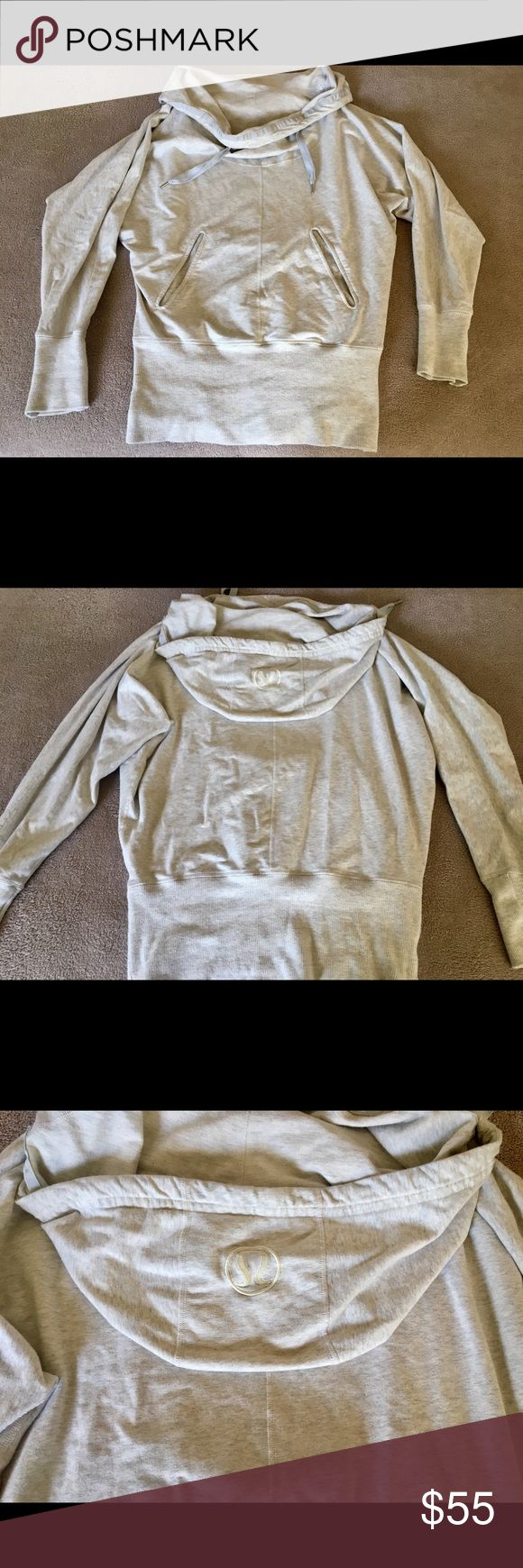 Lululemon Flash Back Pullover Hoodie Cream 10 Worn a few times, in excellent condition.  Oatmeal (cream) color.  The black color on model are stock photos for reference on fit. lululemon athletica Tops Sweatshirts & Hoodies