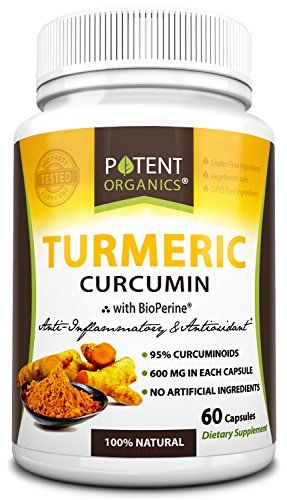 With BioPerine® for 2000% more bioavailability! Try Potent Organics Turmeric Curcumin capsules for a more natural and effective anti-inflammatory. Only the best turmeric root powder is sourced for Po...