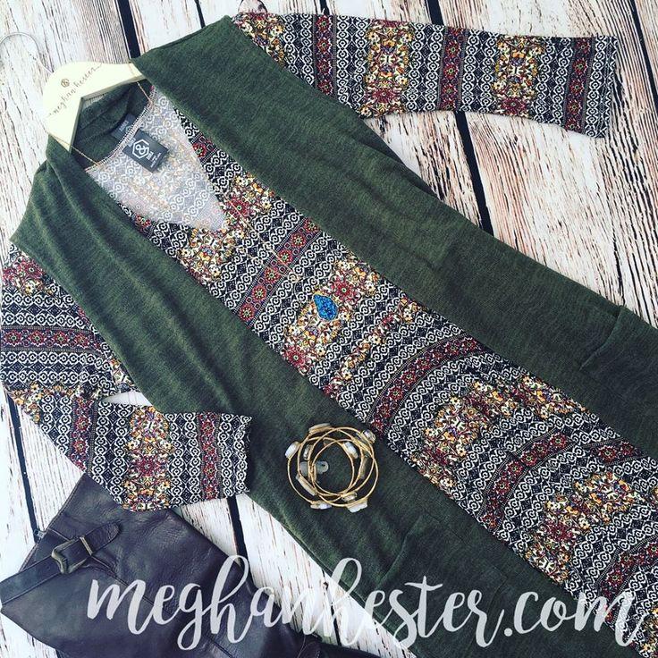 Agnes & Dora Curie Dress - Color Me Mediterranean + Olive Vest Duster @ meghanhester.com