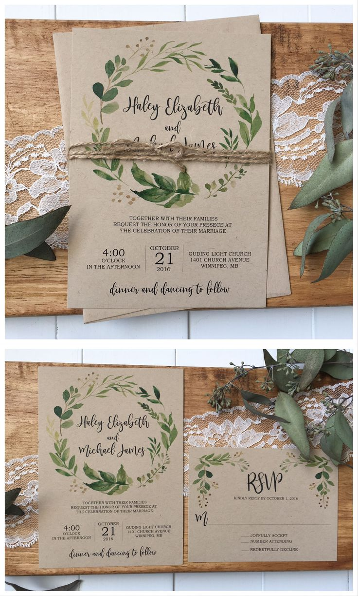 how to make film canister wedding invitations%0A Rustic wedding invitation  Greenery wedding invitation  weddinginvitation   weddinginvitations