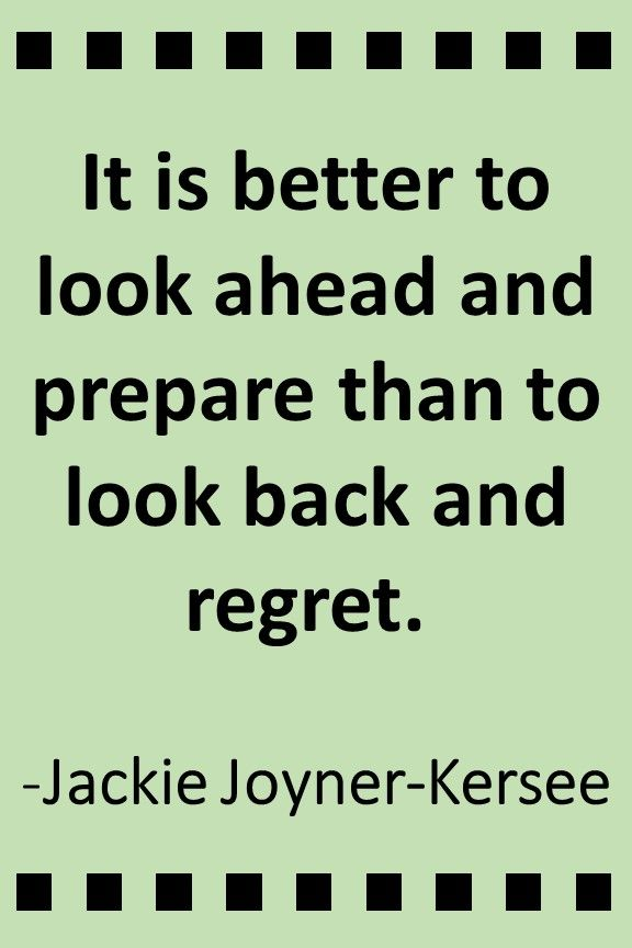 Inspirational quote for students from Jackie Joyner-Kersee.