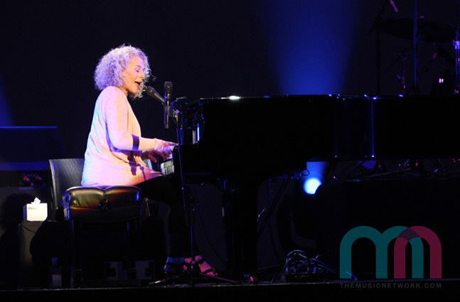 Carole King performing at the Sydney Entertainment Centre on Valentine's Day 2013 (photo credit Dave Youdell)