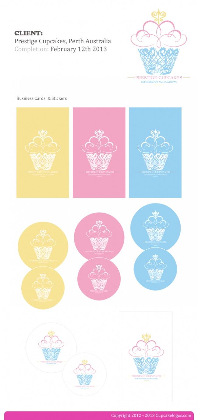 Branding set for Prestige Cupcakes