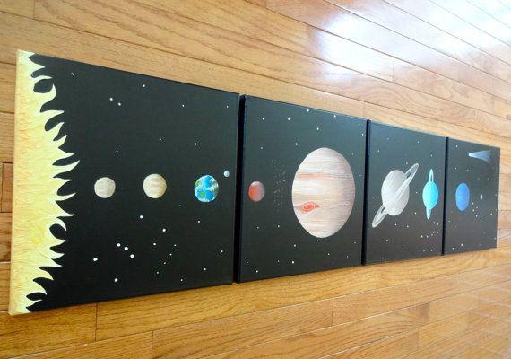 Custom Kids Art Made to Order Solar System Art by ArtsieDarcie
