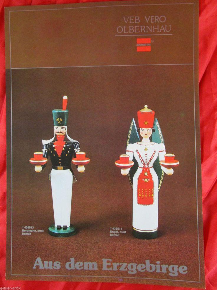 Katalogblatt VERO Olbernhau Engel und Bergmann Nussknacker Schwebeengel | eBay