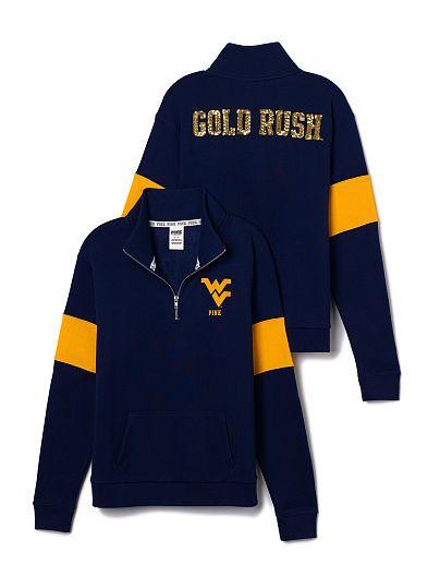 West Virginia University Bling Half-Zip Pullover PINK