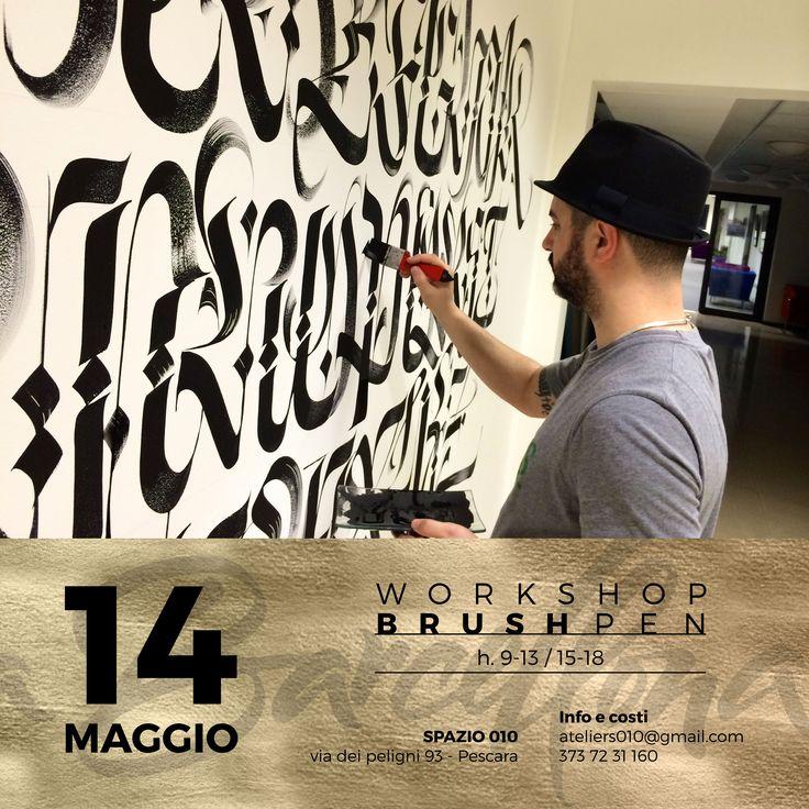 14 Maggio #Pescara Workshop di Calligrafia e brushpen con Luca Barcellona