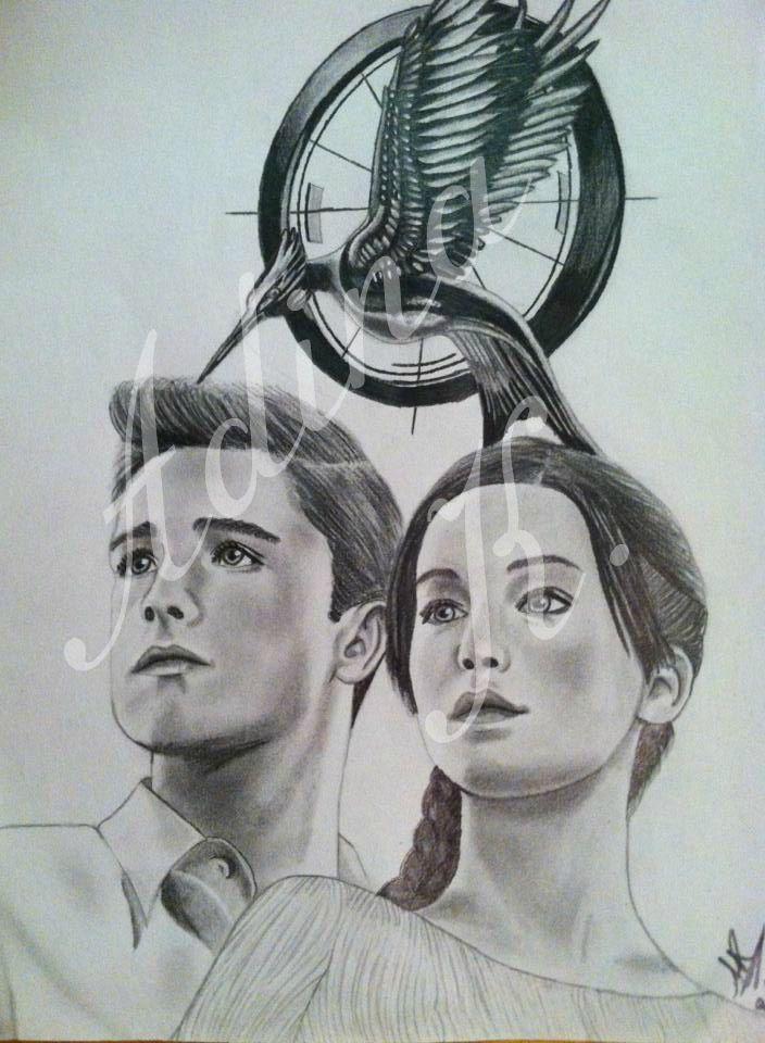 Katniss and Peeta drawing #HungerGames #CatchingFire @Matty Chuah Hunger Games   @deviantART
