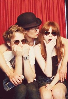 Either Matt is trying to soothe Arthur & Karen...or he's the one who did something to cause them to make those faces.