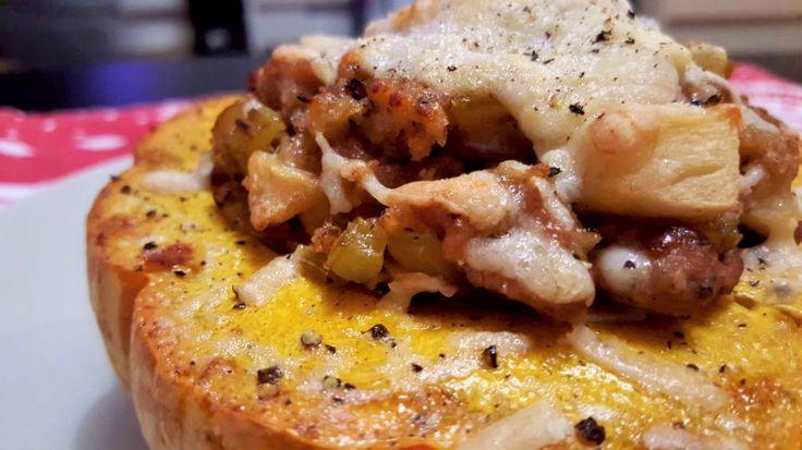 Zucca Ripiena di Salsiccia e Mela - One Fool Pie